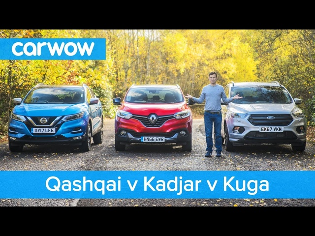 Nissan Qashqai vs Renault Kadjar vs <em>Ford</em> Kuga 2019 – See which is the best mid-size SUV