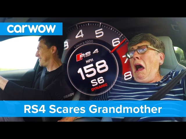 Hilarious - my 70 year old mom reacts to <em>Audi</em> RS4 performance | Mat Vlogs