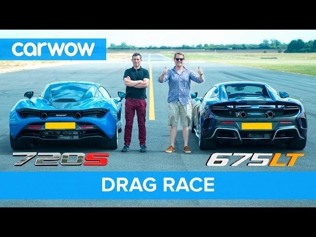 McLaren 720S v 675LT DRAG RACE, ROLLING RACE & BRAKE TEST | Mat vs Shmee pt1/4