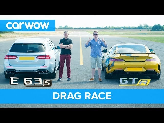 Mercedes-AMG E63 S vs GT R - DRAG RACE, ROLLING RACE & BRAKE TEST | Mat vs Shmee pt 2/4