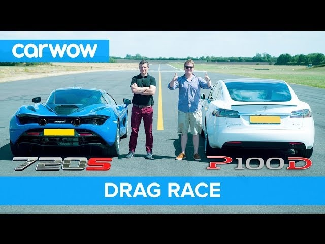 <em>Tesla</em> Model S P100D vs Mclaren 720S DRAG RACE, ROLLING RACE & BRAKE TEST | Mat vs Shmee pt 4/4