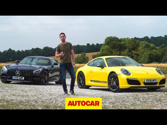 2018 <em>Mercedes</em>-AMG GT C vs Porsche 911 Carrera T | Autocar