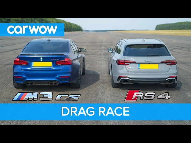 BMW M3 CS vs <em>Audi</em> RS4 - review & DRAG RACE, ROLLING RACE & BRAKE TEST