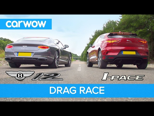 <em>Bentley</em> Continental GT vs Jaguar I-Pace - DRAG RACE, ROLLING RACE & BRAKE TEST