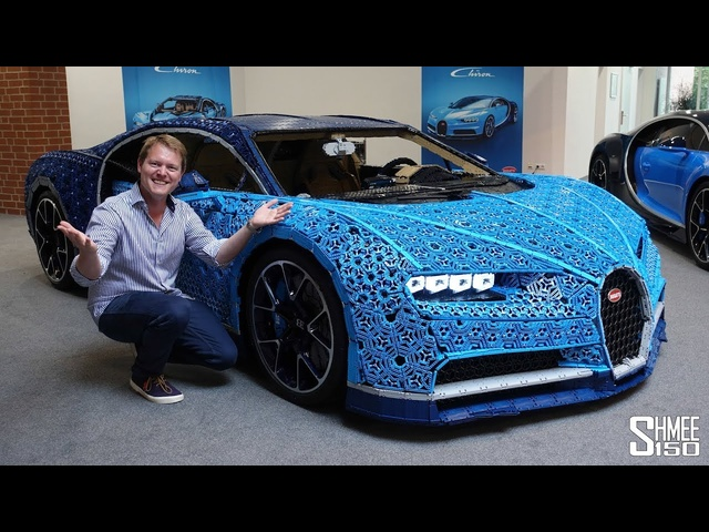 They Made a <em>Bugatti</em> Chiron in FULL SIZE WORKING LEGO!