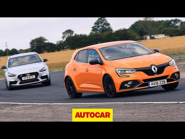 Renault Megane RS 280 Cup vs <em>Hyundai</em> i30N track battle | Autocar