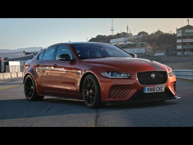Fastest Production Sedan in The World? Jaguar XE SV Project 8 at Laguna Seca
