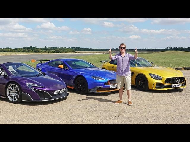 DRAG RACE: <em>McLaren</em> 675LT vs AMG GT R vs Aston Martin GT8