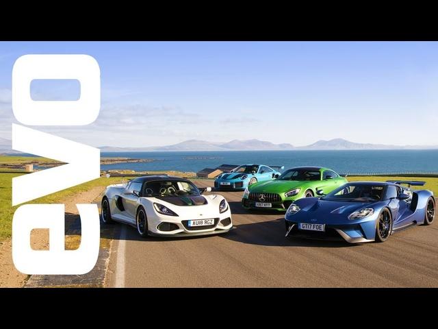 Ford GT v Porsche 911 GT2 RS v <em>Mercedes</em>-AMG GT R v Lotus Exige Cup | evo LEADERBOARD
