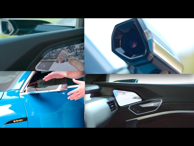 Audi e-tron Virtual Door Mirrors Worlds First Video Mirrors Audi All Electric Premiere Video CARJAM