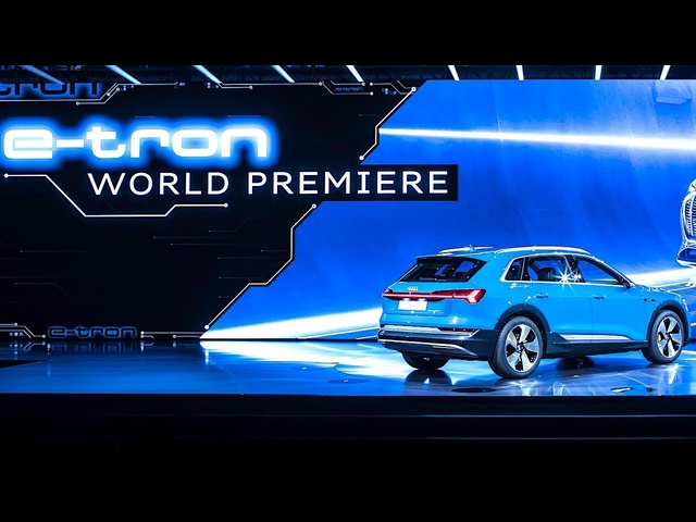 Audi etron Spectacular Live World Premiere Audi Electric SUV 550 Intel drones Swarm Video CARJAM