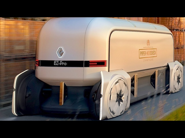 Self Driving Trucks - Scary or Cool? Robovehicle <em>Renault</em> EZpro Video Premiere 2019 Autonomous Truck