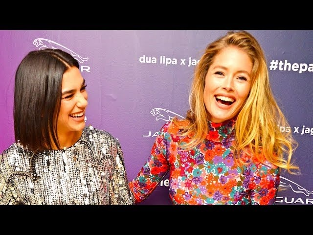 Dua Lipa Supermodel Doutzen Kroes Talk Driving World Premiere 2019 Dua Lipa x Jaguar Electric CARJAM
