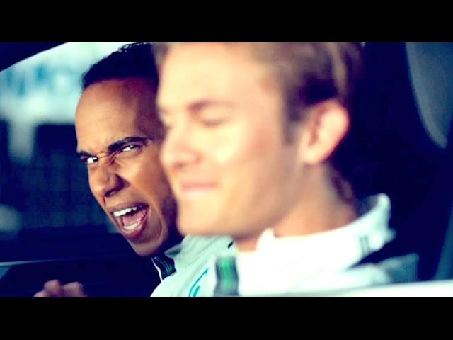 #TBT Hamilton Rosberg Funny Mercedes Commercial Mercedes S Class Hybrid CARJAM