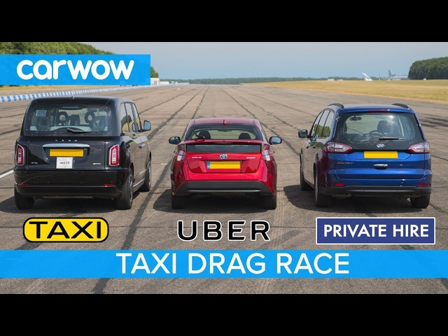 TAXI DRAG RACE: Uber vs electric London Black Cab vs private hire -which is quickest?