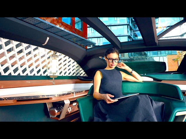 Luxury Self Driving Car INTERIOR Video Steampunk Inspired Interior Doors Demo <em>Renault</em> Interior