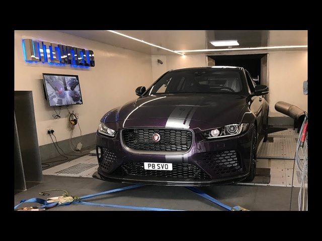 First ever Jaguar XE Project 8 dyno run at Lichfield; 600+bhp!