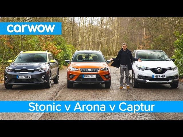 Kia Stonic vs SEAT Arona vs <em>Renault</em> Captur 2019 - See which is the best small SUV