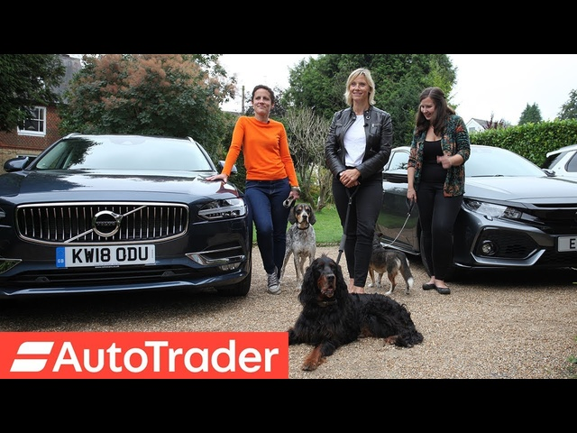 The REV Test: Dog-Friendly Cars. <em>Honda</em> Civic vs Land Rover Discovery vs Volvo V90