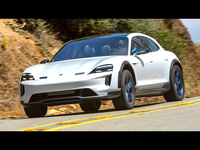 Porsche Taycan Testing Malibu Canyons Electric Porsche Taycan 2019 Mission E Cross Turismo Update