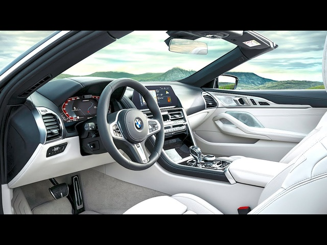 BMW M850i INTERIOR Video In Detail BMW M850i xDrive Interior Video G14 BMW 8 Series Cabrio Interior