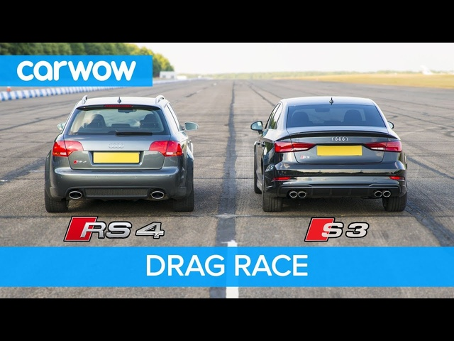 <em>Audi</em> S3 vs RS4 B7 - DRAG & ROLLING RACE! Can a 2.0 Turbo Auto beat a 4.2 V8 Manual from 2008?