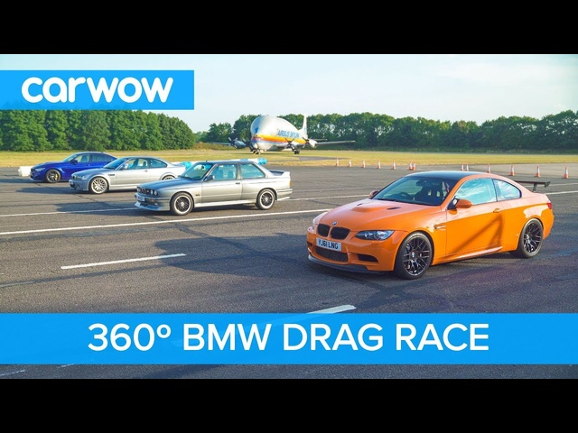 BMW M3 Generations - 360° DRAG RACE & ROLLING RACE