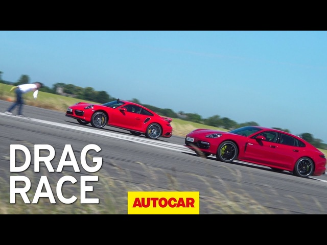 Drag Race: Porsche Panamera Turbo S vs Porsche 911 Turbo S | Autocar