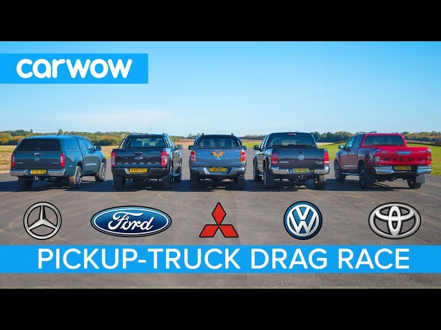 Mercedes X-Class vs VW Amarok vs Hilux vs Ranger vs L200 - DRAG RACE, ROLLING RACE & BRAKE TEST