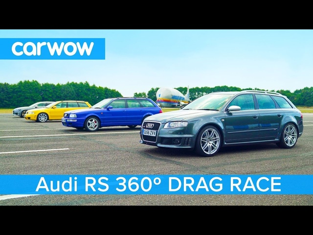 Audi RS4 generations - 360° DRAG & ROLLING RACE