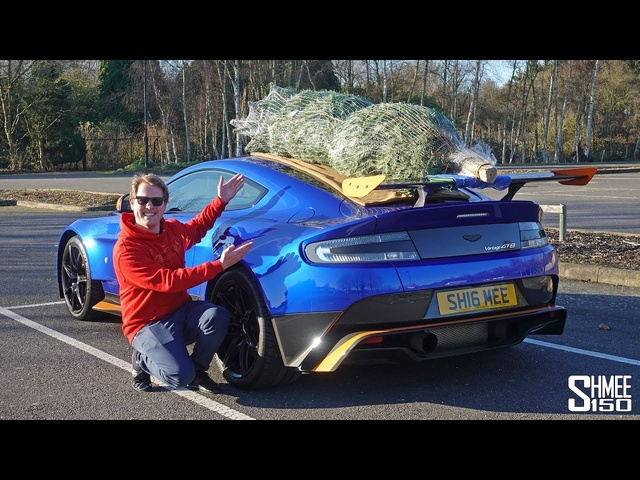 The Noisiest Aston Martin Christmas Tree Delivery!