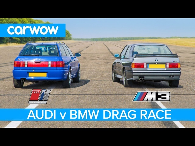 BMW E30 M3 vs <em>Audi</em> RS2 - DRAG & ROLLING RACE and REVIEW