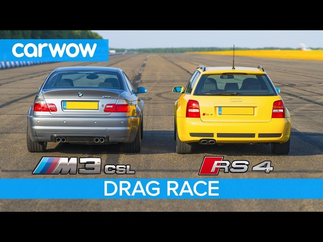 BMW M3 CSL vs <em>Audi</em> RS4 B5 - DRAG RACE, ROLLING RACE & Review