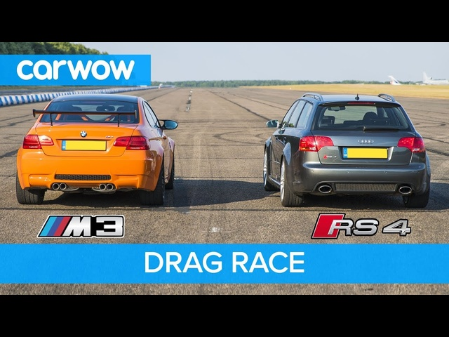 BMW E92 M3 GTS vs Audi RS4 B7 - DRAG RACE, ROLLING RACE & REVIEW