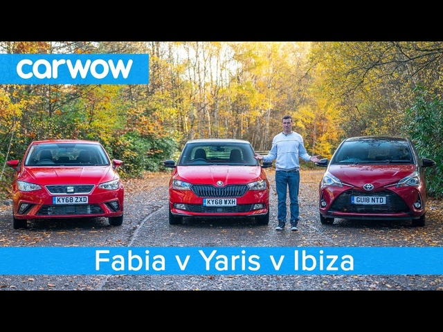 Skoda Fabia vs <em>Toyota</em> Yaris vs SEAT Ibiza 2019 - which is the best small car?