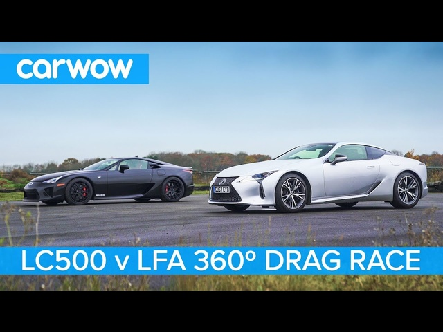 Lexus LFA vs Lexus LC500 -360° DRAG & ROLLING RACE