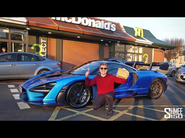 MCDONALD'S DRIVE THRU with My McLaren Senna!