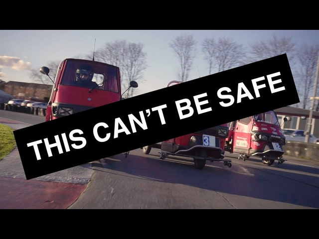 THIS CAN'T BE SAFE! -Episode 1: Piaggio Ape Racing   Carfection
