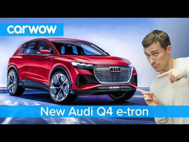 New Audi Q4 e-tron SUV 2020 - see why it's like a baby <em>Tesla</em> Model X
