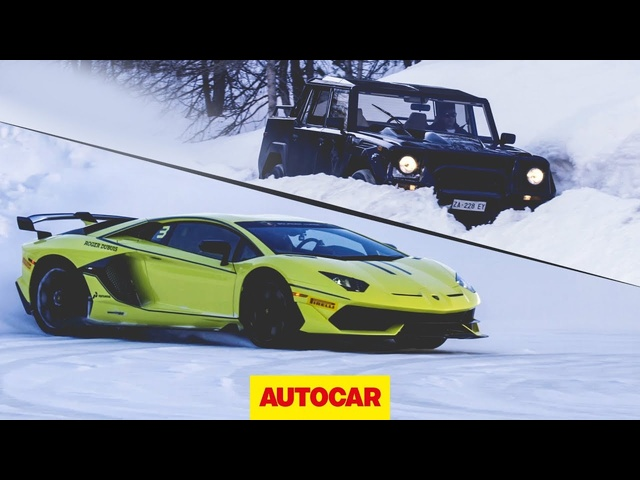 2019 Lamborghini Aventador SVJ on ice | LM002 driven | Autocar
