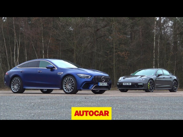 Mercedes-AMG GT63 S vs Porsche Panamera Turbo S | Which Luxury GT is best? | Autocar
