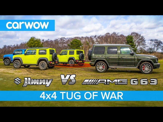 Mercedes-AMG G63 vs Suzuki Jimny - TUG OF WAR