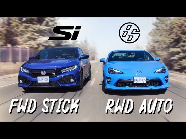 2019 Honda Civic Si vs 2019 Toyota 86 Review - FWD Manual or RWD Automatic?!