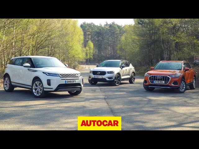 2019 Range Rover Evoque vs <em>Volvo</em> XC40 vs Audi Q3 review | Best small SUVs | Autocar