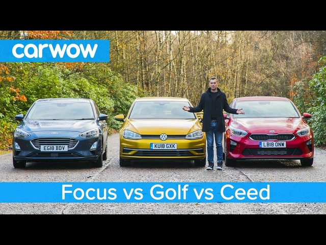 <em>Volkswagen</em> Golf v Ford Focus v Kia Ceed - which is the best small family car?