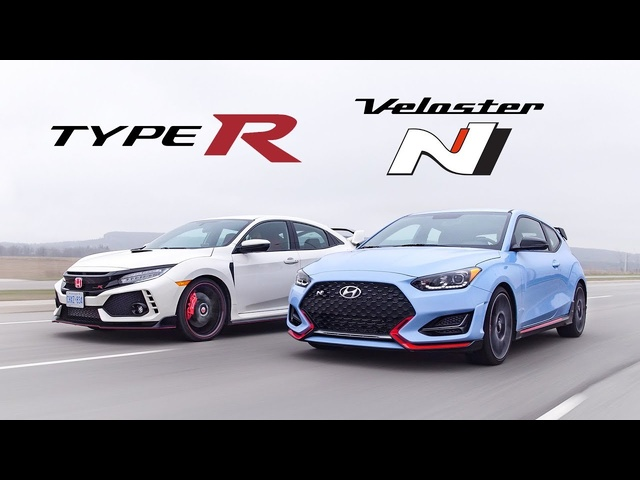 2019 <em>Honda</em> Civic Type R vs Hyundai Veloster N Review - Battle of the Hottest Hatches