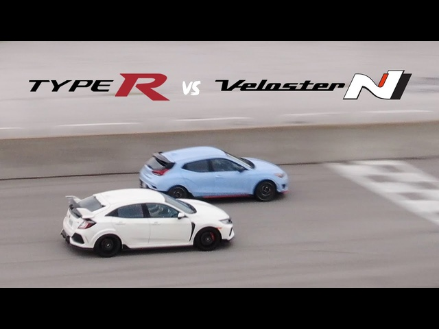 TRACK BATTLE - Honda Civic Type R vs Hyundai Veloster N