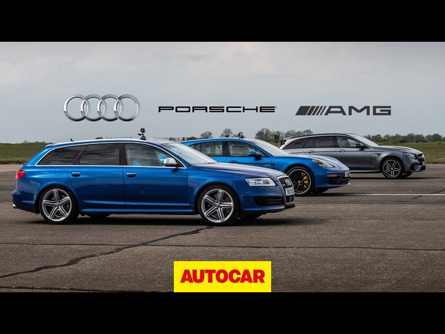 Drag Race: Tuned V10 <em>Audi</em> RS6 vs AMG E63 S vs Porsche Panamera Turbo | Autocar
