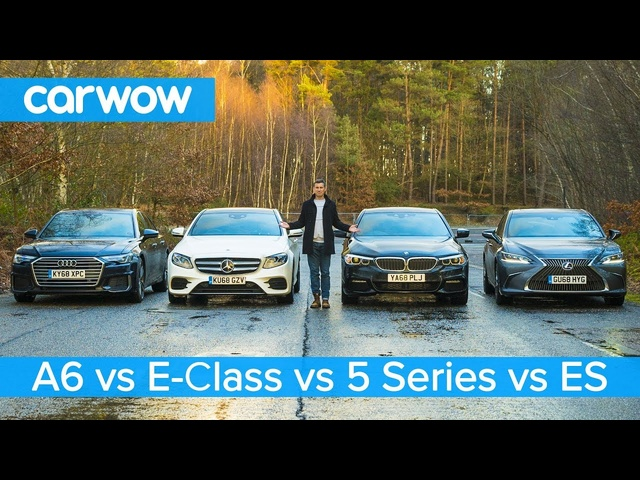 <em>Audi</em> A6 vs BMW 5 Series vs Mercedes E-Class vs Lexus ES - which is best?