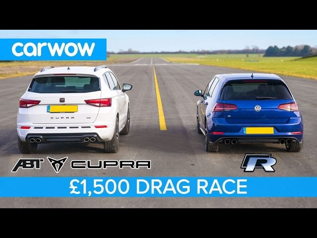 Can you beat a VW Golf R with a Cupra Ateca after this £500 upgrade - DRAG & ROLLING RACE